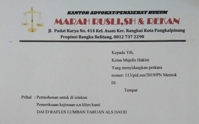Sidang Lanjutan Penistaan Agama Ph Mengajukan Permohonan