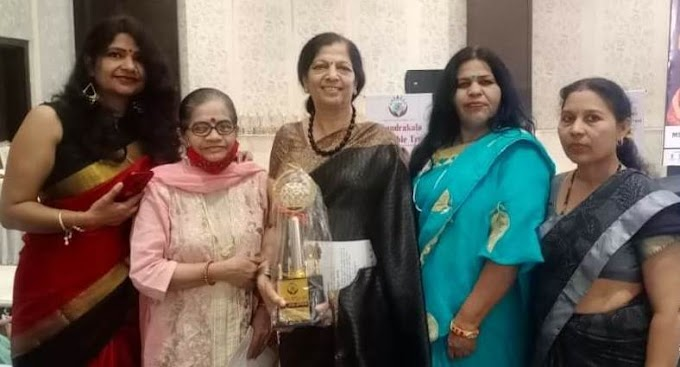 वरिष्ठ नृत्य गुरु और अभिनेत्री उषा श्री को मिला राष्ट्र रत्न सम्मान