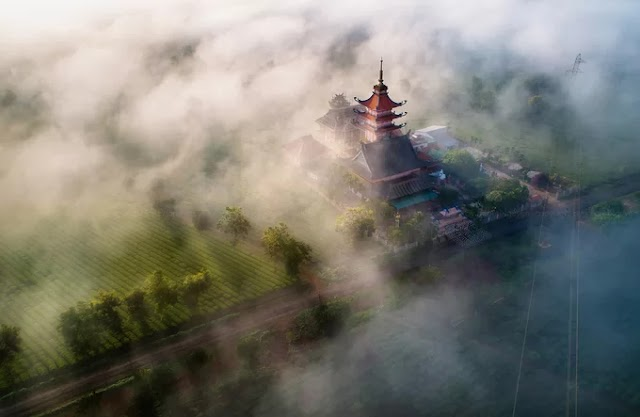 Gia Lai mountain town is in the early mist