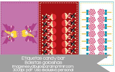 Etiquetas Candy Bar Caramelos Para Imprimir Imágenes Y Dibujos Para Imprimir
