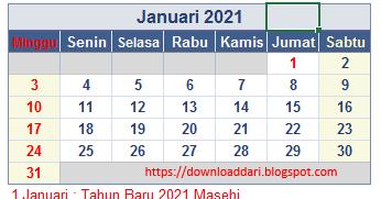 Download Kalender Indonesia Lengkap Tahun 2021 Pdf ...