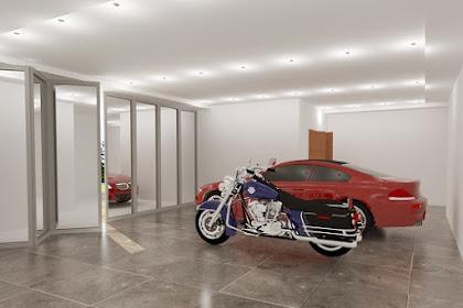 Jasa desain garasi mobil motor mewah luas modern