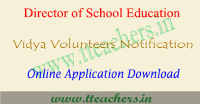 TS vidya volunteers notification 2018-19, VVs recruitment schedule Telangana