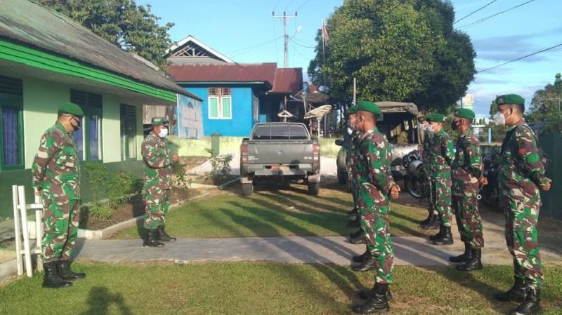 Koramil 1205-16/Belimbing terima tambahan Personil dari Kompi Senapan Yon A 642 Kapuas