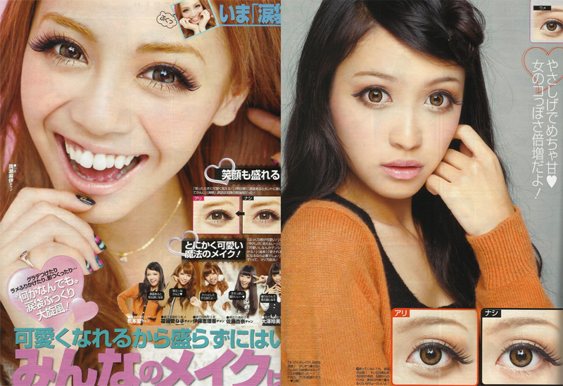 Makeup for eye bags