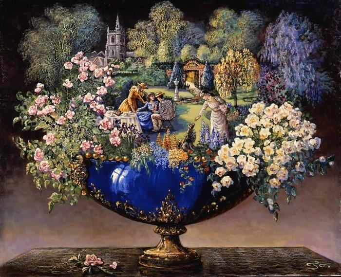 Британский художник-фантаст. Josephine Wall