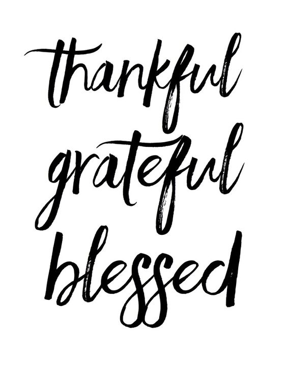 Thankful grateful blessed free fall printable