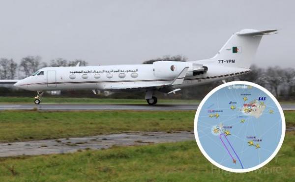 """طائرة تابعة للحكومة الجزائرية أقلعت صوب """"لوغرونيو"""" لنقل """"إبراهيم غالي""""، وعادت أدراجها إلى الجزائر"""