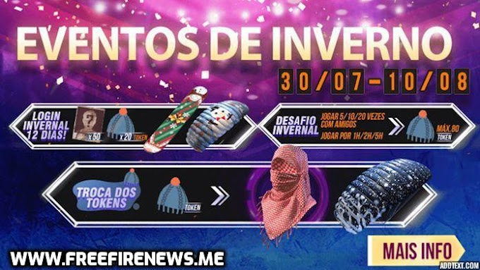 Free Fire Winter Events And Rewards 2020   Free Fire News