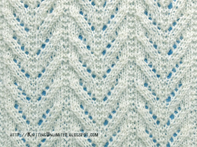 Lace Stitches for Spring 2016 - Pattern 10/10 - Chevron Lace