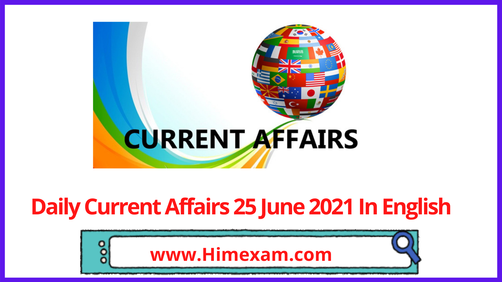 Daily Current Affairs 25 June 2021 In English