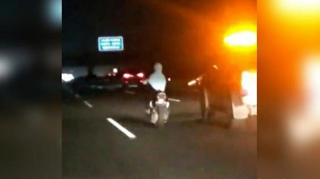 Viral Emak-emak Berhijab Kendarai Motor Matic Masuk Tol Jagorawi, Polisi Ungkap Kronologinya