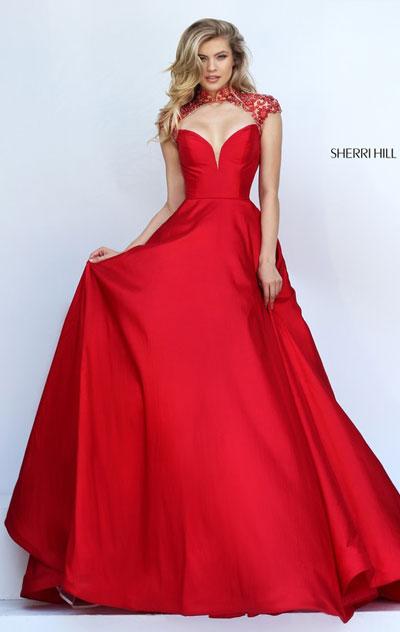 9002913aa39 prom dresses 2018 on sale  Sherri Hill 50004 Red Prom Dress 2018