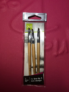 QVS 3 LIP AND EYE ARTIST BRUSHES