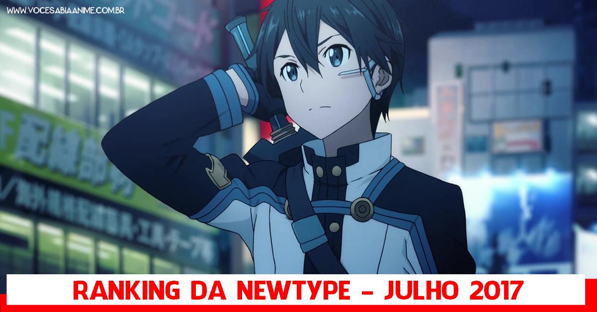 Kirito novamente no topo do Ranking de Personagens da Newtype de Julho