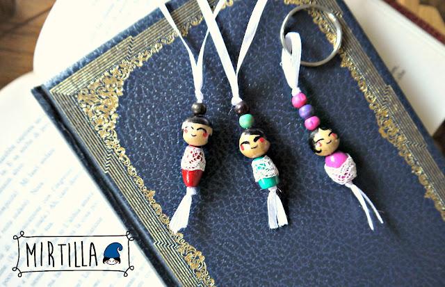 segnalibri perline bambole