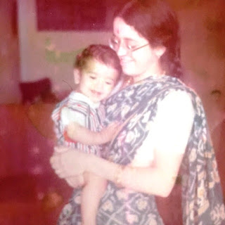 Ekayani and Son during ISKCON cult