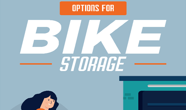 15 amazing options for bike storage inside and outside #infographic