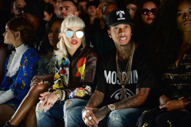 The singer Rita Ora and rapper Tyga attended Monday the fashion