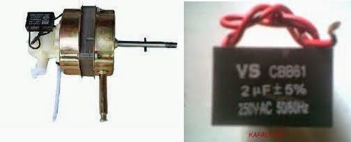 kapasitor motor kipas angin