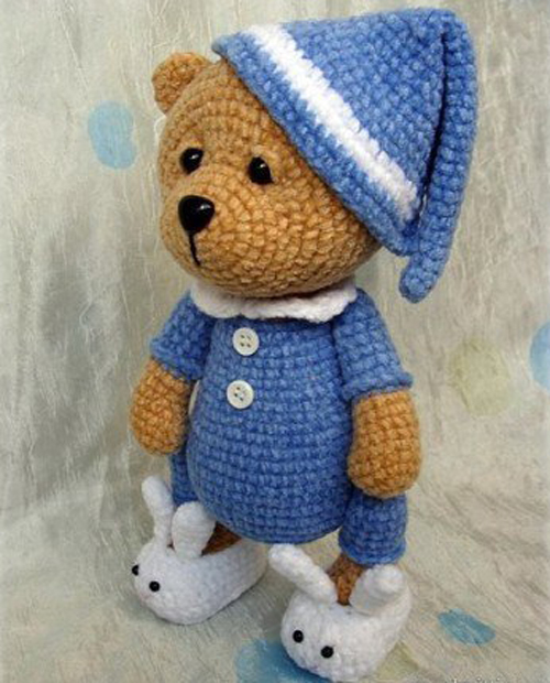 Amigurumi Crochet Bear Sleeper - Free Pattern