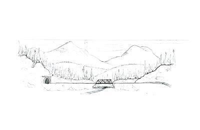 Original sketch of planned background