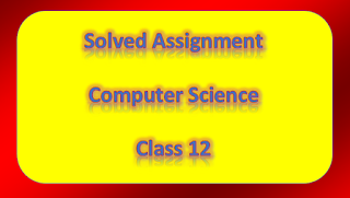 Solved Assignment Computer Science class 12