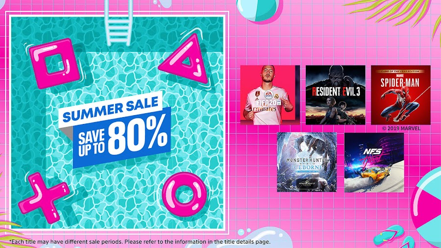 playstation store summer sale 2020 fifa 20 resident evil 3 remake marvel's spider-man monster hunter world: iceborne need for speed heat ps4 sony interactive entertainment