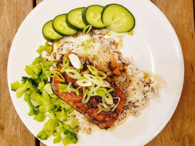 Instant Pot Caramel Glazed Salmon