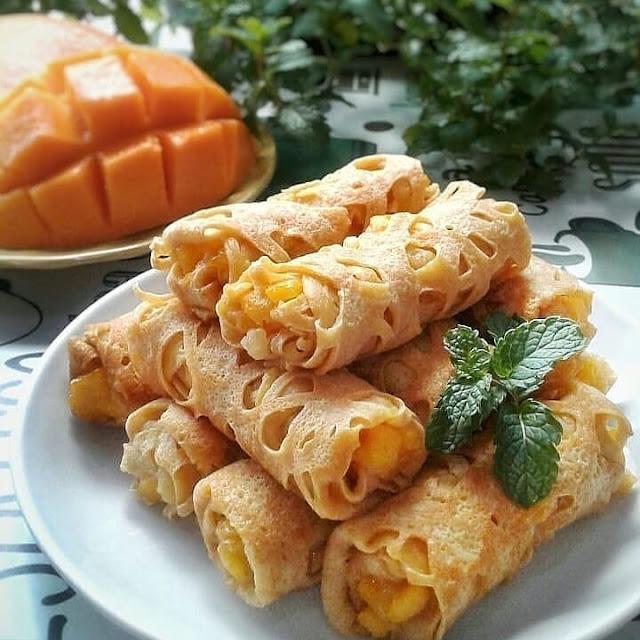 Resep Praktis Roti Jala Mangga