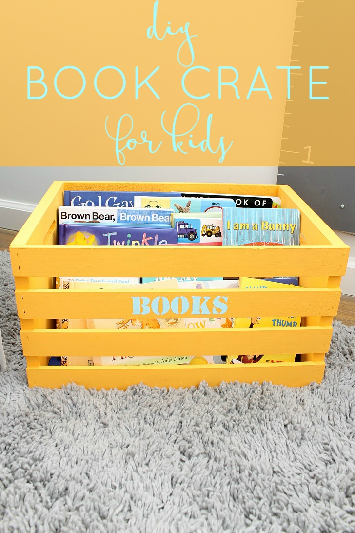 DIY Kid's Book Storage Crate