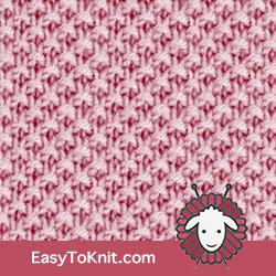 Knit Purl 58: Moss stitch, basic knitting pattern. #easytoknit