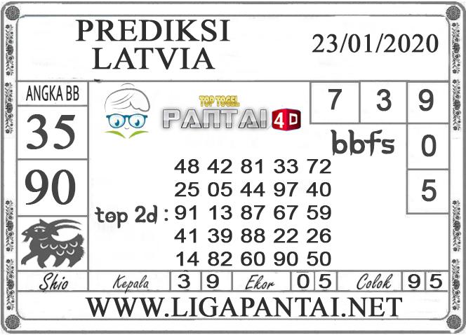 PREDIKSI TOGEL LATVIA PANTAI4D 23 JANUARI 2020
