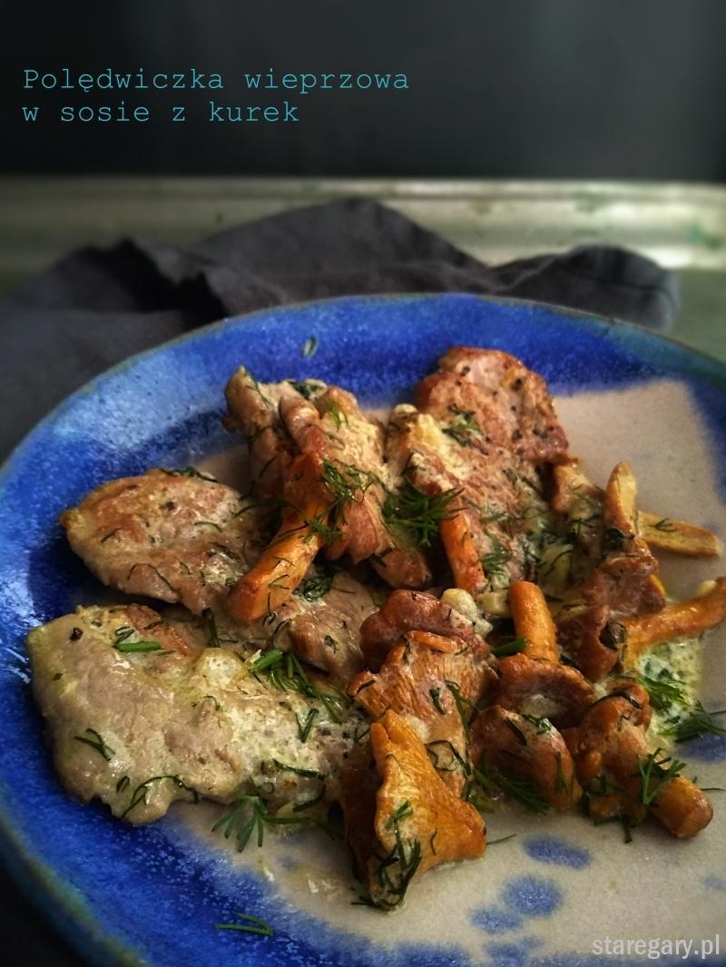 Polędwiczka wieprzowa w sosie z kurek
