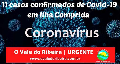 ILHA COMPRIDA CONTABILIZA 11 CASOS POSITIVOS DE CORONAVÍRUS - COVID-19