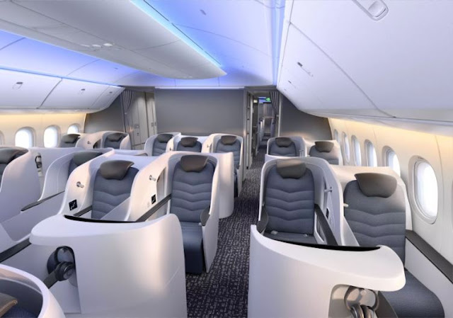 Boeing 777-9X interior business class