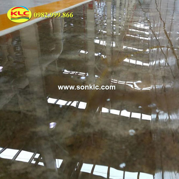 Self-leveling epoxy coating steps