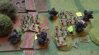A German artillery bombardment causes casualties