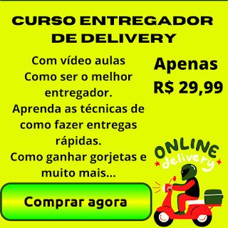 Curso de entregador de delivery