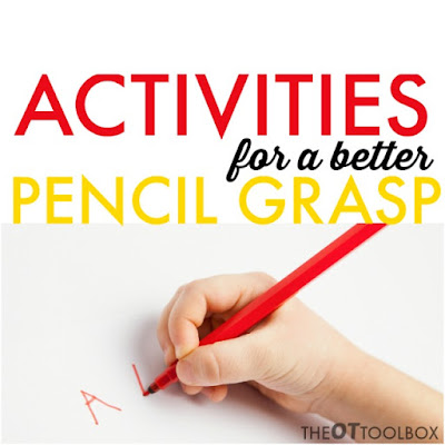 Kids will love these fun activities designed to improve pencil grasp and other handwriting problems.