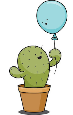 Gambar doodle kaktus
