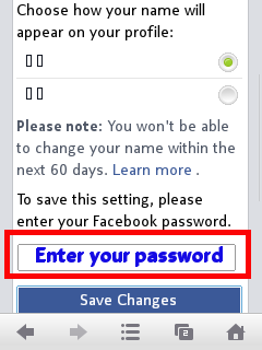 Facebook character name