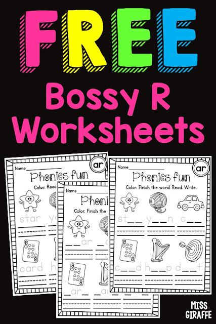 Free Bossy R worksheets
