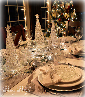 Christmas frosty tablescape
