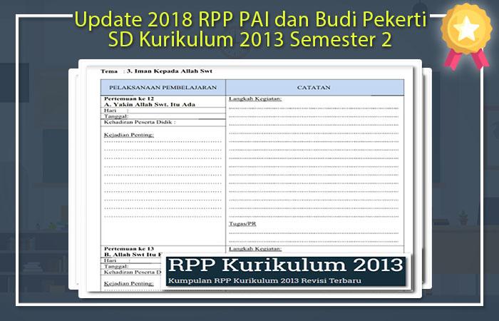 Update 2020 Rpp Pai Dan Kecerdikan Pekerti Sd Kurikulum 2013 Semester 2 Idn Paperplane