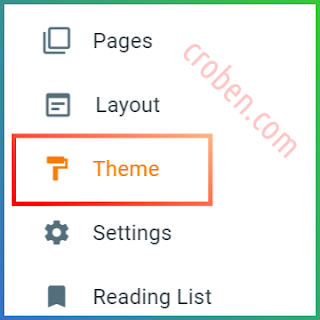 Restore Themes In Blogger Step 1