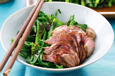 beef with plum chilli sauce