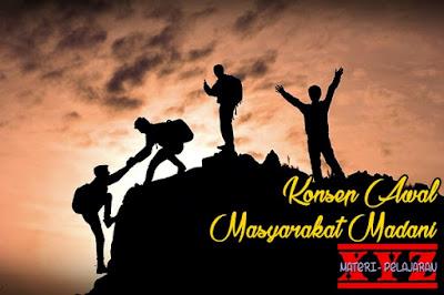 Masyarakat Madani, Konsep Awal Masyarakat Madani. | www.materi-pelajara.xyz