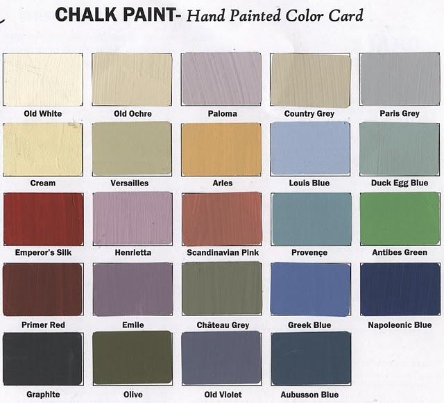 Different Colors Of Chalk Paint