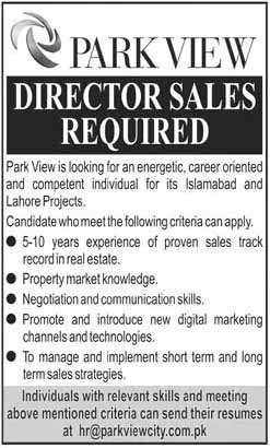 Director jobs in Park View Islamabad